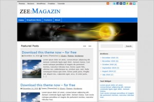 zeeMagazine is a free WordPress Theme