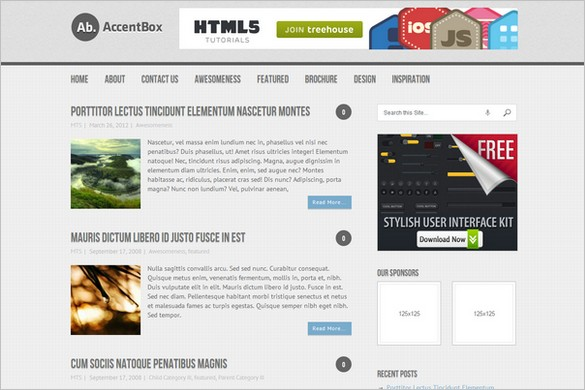 AccentBox is a free WordPress Theme by MyThemeShop