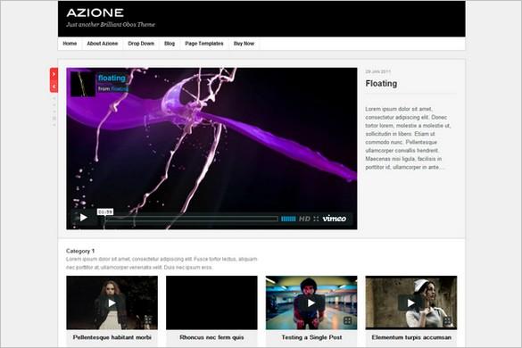 Azione is a WordPress Video Blogging Theme