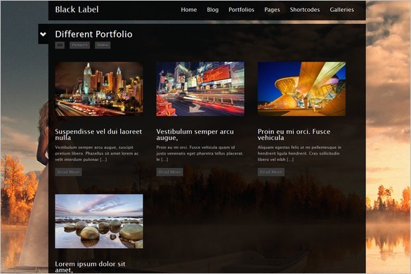 Black Label is a Fullscreen Video WordPress Theme