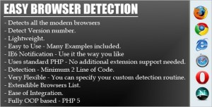 Easy and Quick Browser Detection script