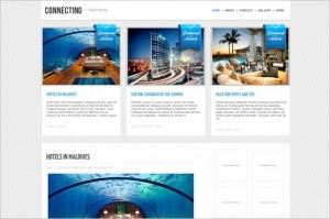 Connecting is a WordPress Travel Theme