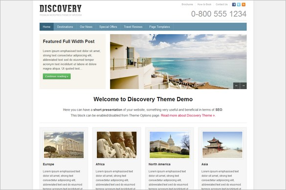 Discovery is a Travel WordPress Theme