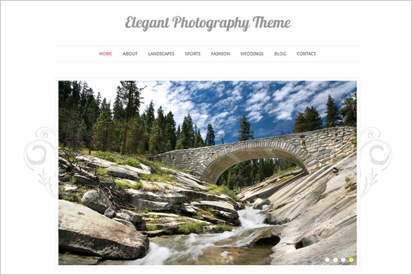 Elegant Photography is a free WordPress Theme by Vandelay Design
