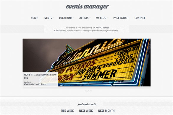 Eventful is an Events WordPress Theme