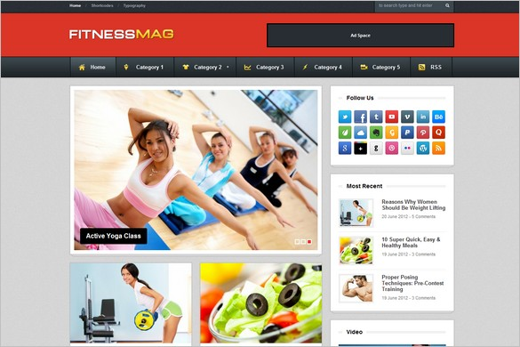 FitnessMag is a Responsive Blogging WordPress Theme