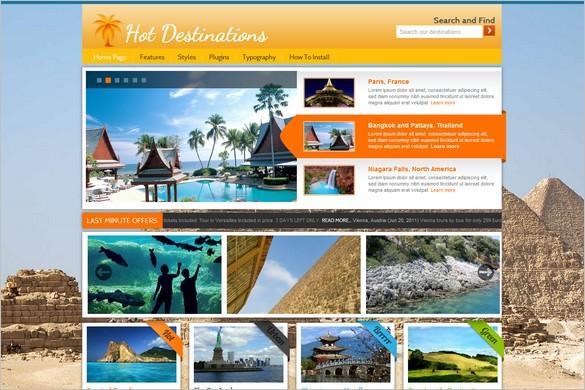 HOT Destinations is a WordPress Travel Theme