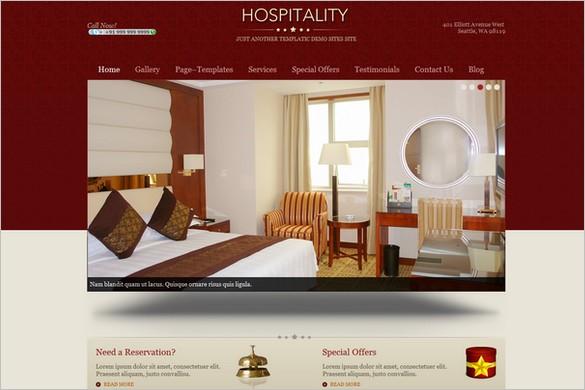 Hospitality is a premium hotel WordPress Theme