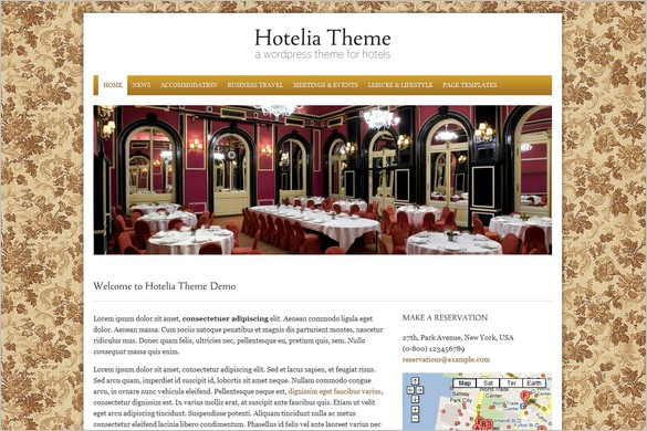 Hotelia is a premium Hotel WordPress Theme