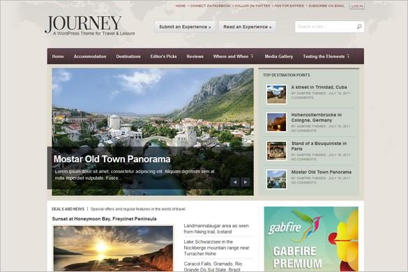 Journey is a Travel WordPress Theme