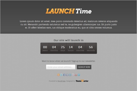 LaunchTime is a free WordPress Theme by ThemeWarrior