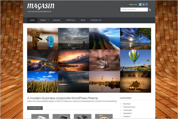 Magasin is a Business WordPress Theme