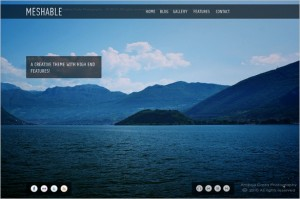 Meshable is a Photography Fullscreen WordPress Theme