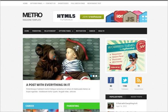 Metro is an ultra-modern WordPress theme