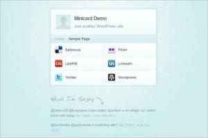 MiniCard vCard is a free WordPress Theme