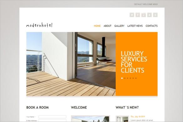 Modern Hotel is a premium WordPress Theme