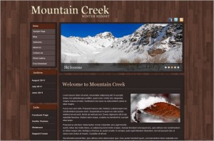 Mountain Creek is a free WordPress Theme
