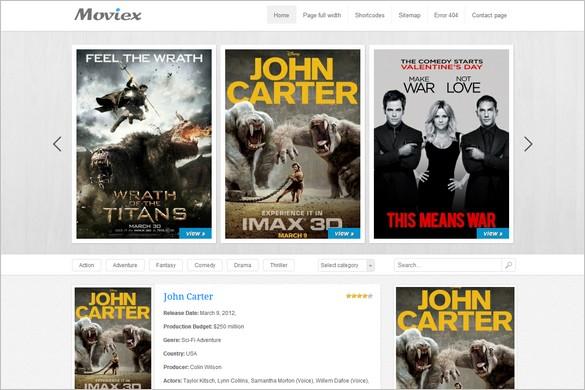 Moviex is a Video WordPress Theme