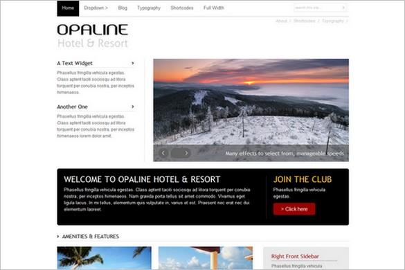 Opaline is a Hotel WordPress Theme
