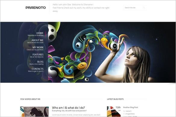 Praenoto is a Clean & Minimalist WordPress Theme