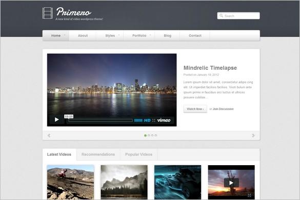 Primero is a Video WordPress Theme