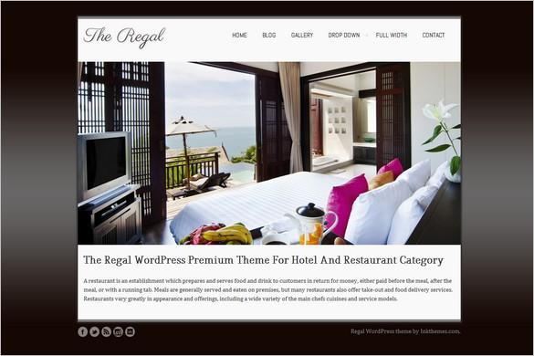 Regal is a Hotel WordPress Theme