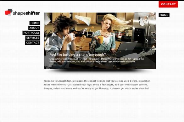 ShapeShifter is a beautiful premium WordPress Theme
