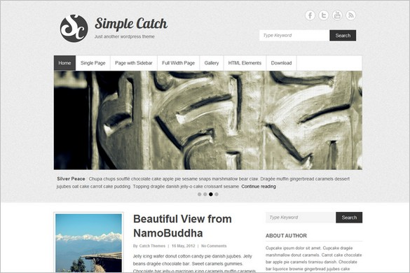 Simple Catch is a free WordPress Theme by Catch Themes