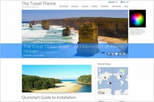 The Travel Theme is a free WP theme