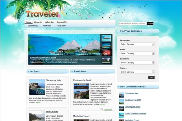 Traveler Magazine is a premium WordPress Theme