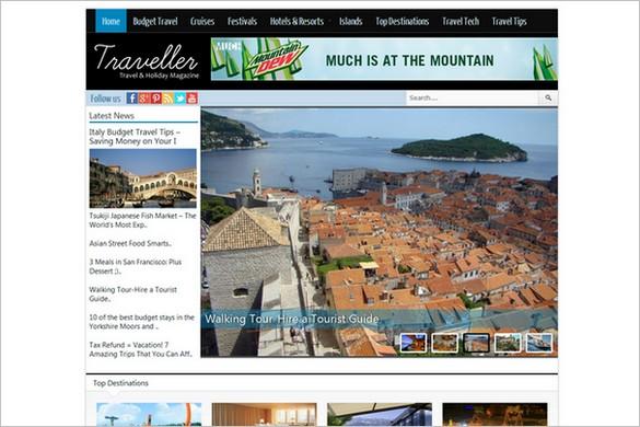 Traveller is a premium Travel WordPress Theme