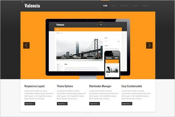 Valencia is a Responsive WordPress Theme