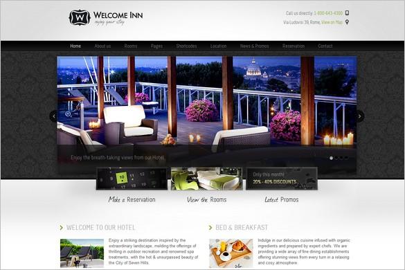 Welcome Inn is a hotel WordPress Theme