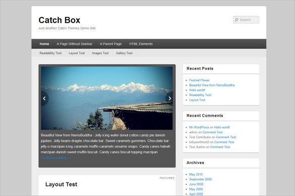 Catch Box is a free WordPress Theme