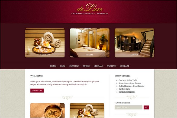 deLuxe is a Hotel WordPress Theme