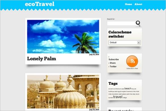 ecoTravel is a Travel WordPress Theme