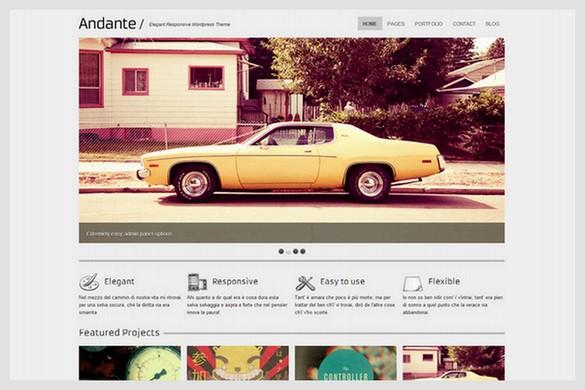 Andante is a Responsive Portfolio WordPress Theme