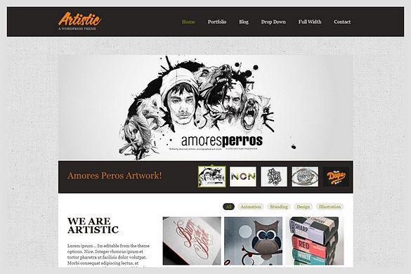 Artistic is a Portfolio WordPress Theme