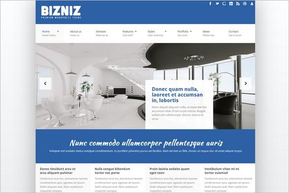 Bizniz is a Responsive Business WordPress Theme