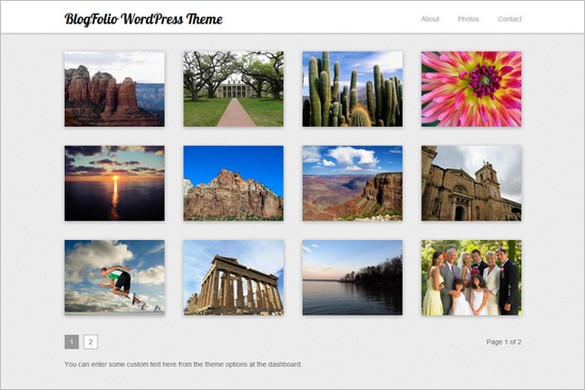 BlogFolio is a free Photography WordPress Theme by Vandelay Design