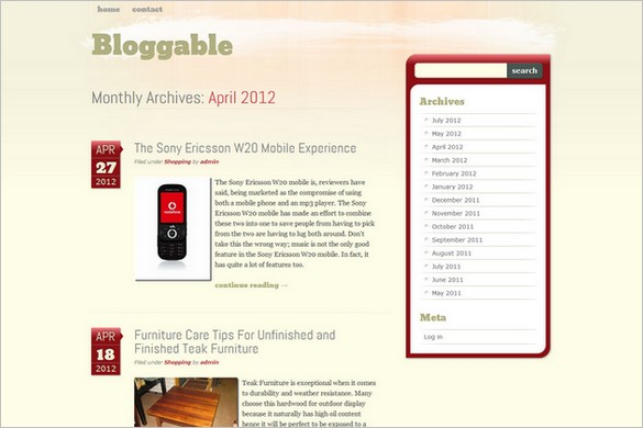 Bloggable is a free WordPress Theme