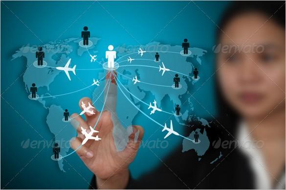 Business travel transport concept