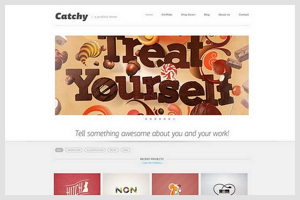 Catchy is a Portfolio WordPress Theme