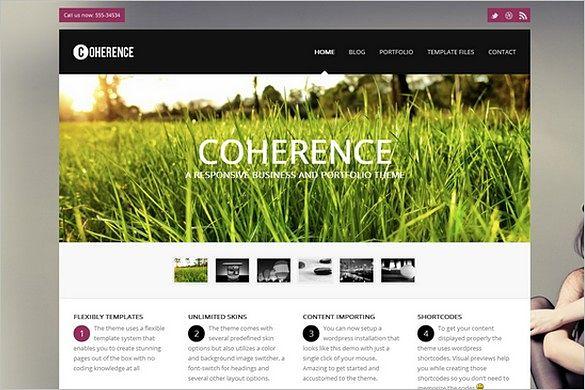 Coherence is a Responsive Business & Portfolio WordPress Theme