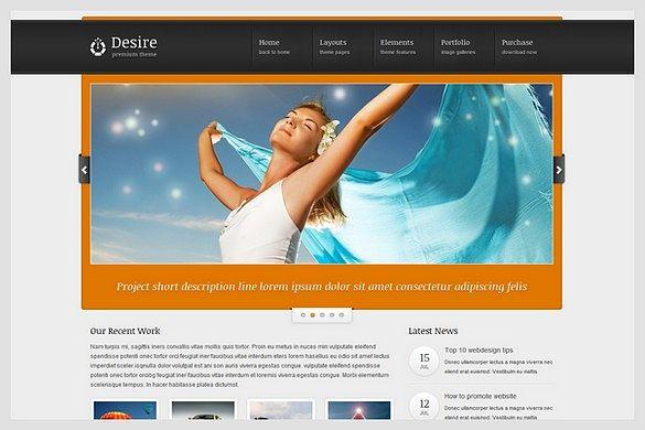 Desire is a Portfolio WordPress Theme