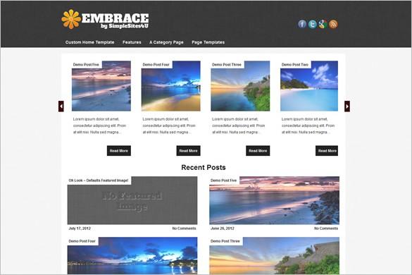 Embrace is a free WordPress Theme