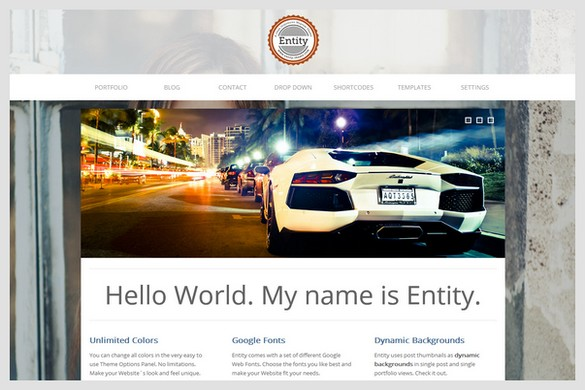 Entity is a business and portfolio WordPress Theme