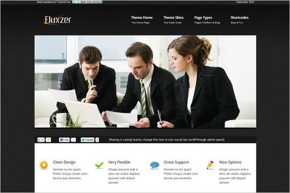 Fluxzer is a Corporate WordPress Theme
