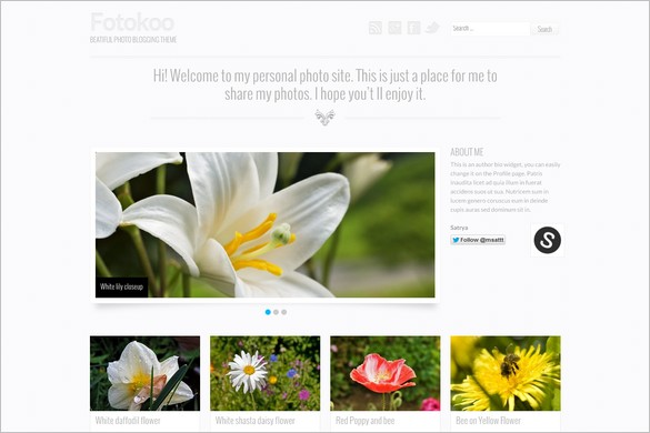 Foto is a free Photo Blogging WordPress Theme by Satrya