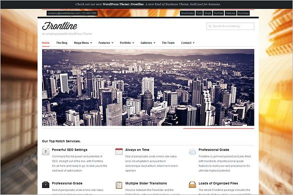 Frontline is a Responsive Business WordPress Theme